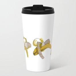 Eating process (Banana) // watercolor banana consumption Travel Mug