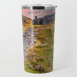 Quarry Sunset Snowdonia Travel Mug