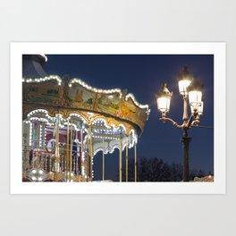 Around the Carrousel  Art Print
