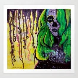Citrus Sugar Skull Art Print