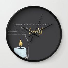Be a light Wall Clock