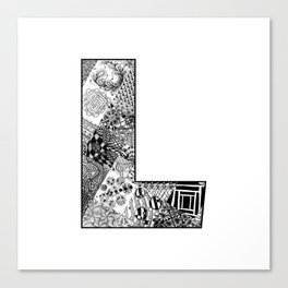 Cutout Letter L Canvas Print