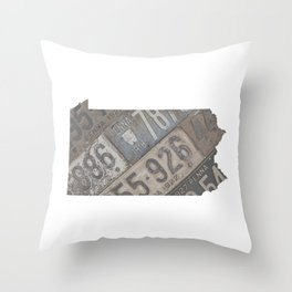 Vintage Pennsylvania Throw Pillow