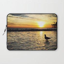 Seagull at Santa Monica Pier California Laptop Sleeve