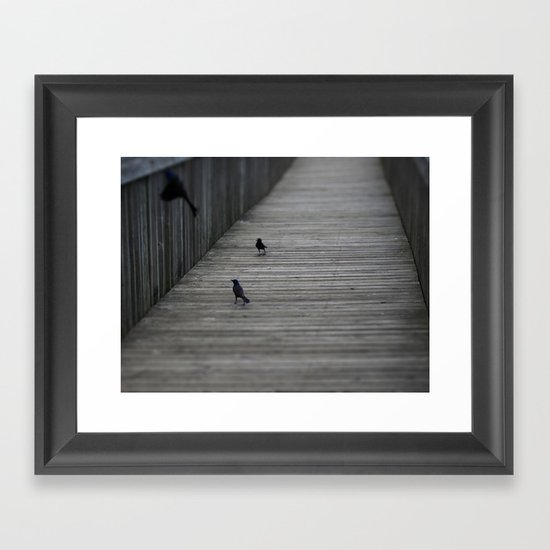 Black Birds Framed Art Print