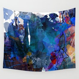 blue motion Wall Tapestry