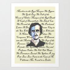 Poe Titles Art Print