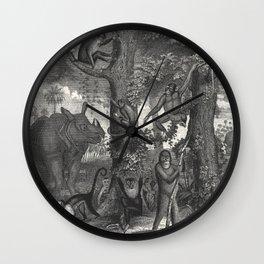 Jungle Family Wall Clock