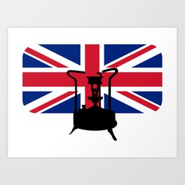 Union Jack and Paraffin pressure stove Art Print