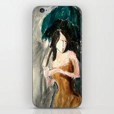 Woman With An Umbrella iPhone & iPod Skin