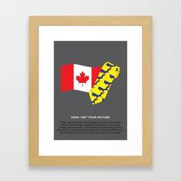 HIMYM Couples - Barney & Robin Framed Art Print