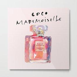 Perfume Coco Mademoiselle Illustration Metal Print