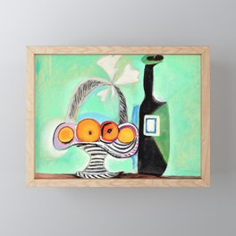 Pablo Picasso - Still Life with Oranges - Digital Remastered Edition Framed Mini Art Print