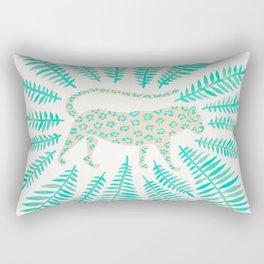 Jaguar – Turquoise & Mint Palette Rectangular Pillow