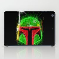 boba iPad Cases featuring Sketchy Boba by famousafterdeath
