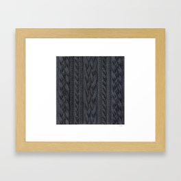 Charcoal Cable Knit Framed Art Print
