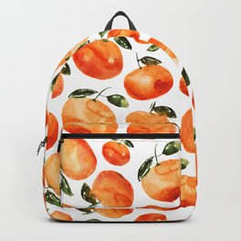 Watercolor tangerines Backpack