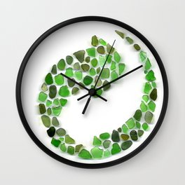 Sea glass - recycled Wall Clock