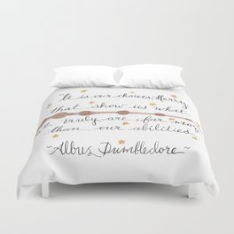 Choices Dumbledore J.K. Rowling Quote Duvet Cover