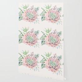Perfect Pink Succulent Wallpaper