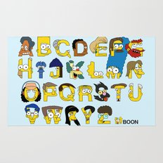 Simpsons Alphabet Rug