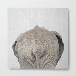 Elephant Tail - Colorful Metal Print