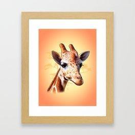 African Jiraff Framed Art Print
