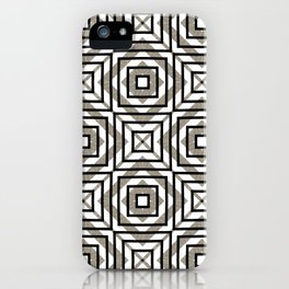 Gray, Gold, and White Geometric Abstract iPhone Case