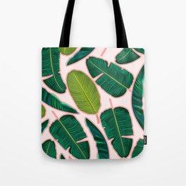 Banana Leaf Blush #society6 #decor #buyart Tote Bag