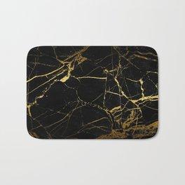 Black-Gold Marble Impress Bath Mat