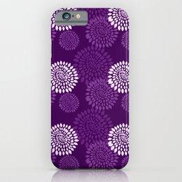 3d Purple Chrysanthemum iPhone Case