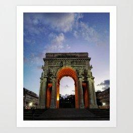 Victory Arch - Genoa Art Print