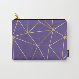 ultra violet gold polygon Carry-All Pouch