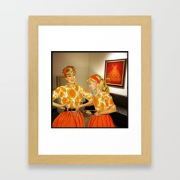 Daughter and Her Narcissistic Mother Framed Art Print