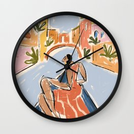 Gondola ride Wall Clock