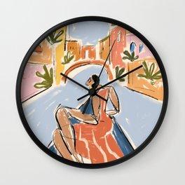 Gondola ride Wall Clock