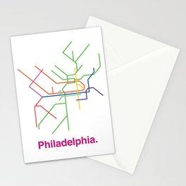 Philadelphia Transit Map Stationery Cards