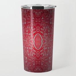 Ruby Red Lace Glow Travel Mug