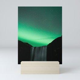 Skógafoss Mini Art Print