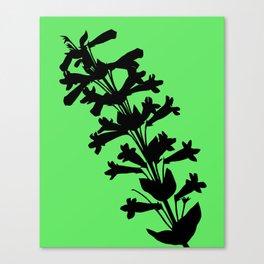 Penstemon in Plum Purple - Original Floral Botanical Papercut Design Canvas Print