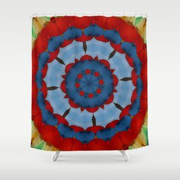 Primary Colours Parasol Kaleidoscope Shower Curtain