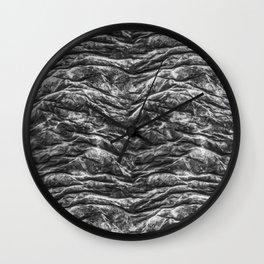 Dark Skin Texture Pattern Wall Clock