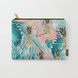 Tropical Pineapple Jungle Geo #6 #tropical #summer #decor #art #society6 Carry-All Pouch