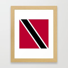 Trinidad and Tobago flag emblem Framed Art Print