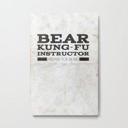 Bear Kung fu Metal Print