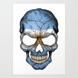 Exclusive Argentina skull design Art Print