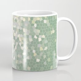Yellow and Sage Green Mosaic Pattern Coffee Mug