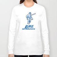 nfl Long Sleeve T-shirts featuring Detroit Luke Skywalkers - NFL by Steven Klock