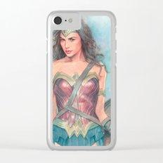 Wonderwoman watercolor Clear iPhone Case