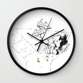 Excellence or Mediocrity Wall Clock